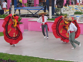 Dancers in Costa Maya